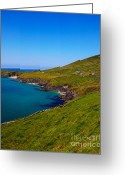 Colour Image Greeting Cards - Coumeenole beach and coast of Dingle Peninsula Greeting Card by Gabriela Insuratelu