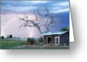 Lightning Bolt Pictures Greeting Cards - Country Lightning NE Boulder County CO Fine Art Greeting Card by James Bo Insogna