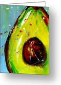 Abstract Greeting Cards Framed Prints Greeting Cards - Crazy Avocado Greeting Card by Patricia Awapara