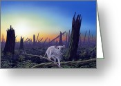 Cretaceous Greeting Cards - Cretaceous-tertiary Extinction Event Greeting Card by Richard Bizley