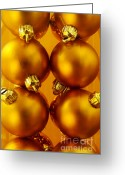 Glowing Greeting Cards - Crhistmas Decorations Greeting Card by Carlos Caetano