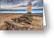 Talacre Digital Art Greeting Cards - Crooked Lighthouse  Greeting Card by Adrian Evans