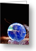 Psychic Greeting Cards - Crystal Ball Greeting Card by Jim DeLillo