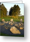 Burials Greeting Cards - Cullerlie Stone Circle Greeting Card by Duncan Shaw