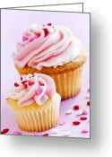 Sweet Greeting Cards - Cupcakes Greeting Card by Elena Elisseeva