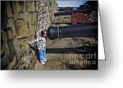 On-the-look-out Greeting Cards - Curiosity can be Dangerous Greeting Card by Darcy Michaelchuk