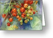 "\\\""texas Artist\\\\\\\"" Greeting Cards - Currants berries painting Greeting Card by Svetlana Novikova"