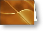 Yellow Line Digital Art Greeting Cards - Curved Intersecting Lines Greeting Card by Ralf Hiemisch