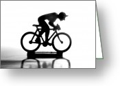 Cyclist Greeting Cards - Cyclist Greeting Card by Bernard Jaubert