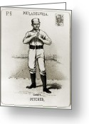 Philadelphia Phillies Greeting Cards - Dan Casey (1862-1943) Greeting Card by Granger