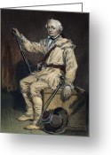 Autograph Greeting Cards - Daniel Morgan (1736-1802) Greeting Card by Granger