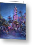 Mexican Pastels Greeting Cards - Days End Greeting Card by Joan  Jones