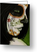 Day Of The Dead Greeting Cards - De un Dia Para Otro Greeting Card by Al  Molina