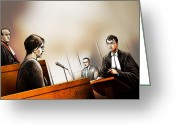 Stafford Greeting Cards - Defence Attorney Dirk Derstine at the Tori Stafford Murder Trial in London Greeting Card by Alex Tavshunsky
