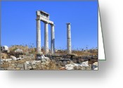 Archeology Greeting Cards - Delos Greeting Card by Joana Kruse