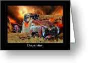 Country Scenes Photographs Greeting Cards - Despiration Greeting Card by Calum Faeorin-Cruich