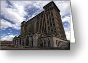 Mathew Greeting Cards - Detroits Abandoned Michigan Central Station Greeting Card by Gordon Dean II