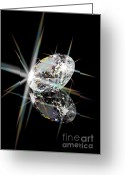 Illuminated Glass Greeting Cards - Diamond Greeting Card by Atiketta Sangasaeng