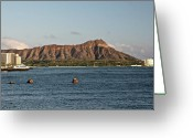 Diamond Head Greeting Cards - Diamond Head Greeting Card by Eddie Freeman