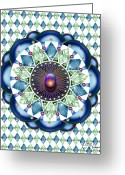 Pearls Greeting Cards - Diamonds and Pearls Greeting Card by Ellen Henneke