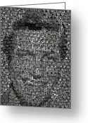 Van Dyke Greeting Cards - Dick Van Dyke Mosaic Greeting Card by Paul Van Scott