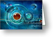 Computer Art And Digital Art Greeting Cards - Digital Genesis Greeting Card by Franziskus Pfleghart