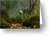 Extinct Greeting Cards - Dodo Creek Greeting Card by Daniel Eskridge