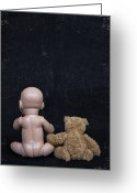 Teddy Bear Greeting Cards - Doll And Bear Greeting Card by Joana Kruse