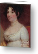 (first Lady) Greeting Cards - Dolley Madison Greeting Card by Photo Researchers