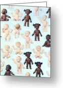 Multicultural Greeting Cards - Dolls Greeting Card by Lawrence Lawry