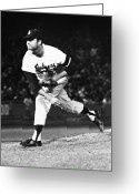 Philadelphia Phillies Photo Greeting Cards - Don Drysdale (1936-1993) Greeting Card by Granger