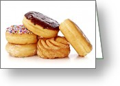 Junk Greeting Cards - Donuts Greeting Card by Elena Elisseeva