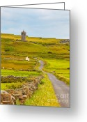 County Clare Greeting Cards - Doonagore Castle Greeting Card by Gabriela Insuratelu
