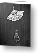 Antique Fan Greeting Cards - Door Knocker Greeting Card by Joana Kruse
