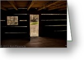 Cabin Interiors Photo Greeting Cards - Doorway to the Past Greeting Card by Ron Plasencia
