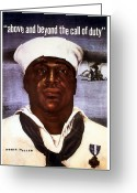 Black History Greeting Cards - Dorie Miller  Greeting Card by War Is Hell Store