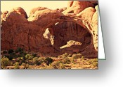 Marty Koch Greeting Cards - Double Arch Greeting Card by Marty Koch