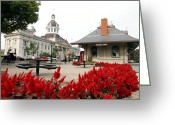 Downtown Kingston Greeting Cards - Downtown Kingston Greeting Card by Valentino Visentini