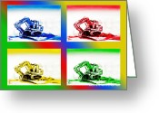 Trouble Greeting Cards - Dozer Mania II Greeting Card by Kip DeVore