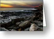 Ethereal Water Greeting Cards - Dramatic Coastline Greeting Card by Carlos Caetano