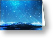 Polaris Greeting Cards - Dramatic Landscape Greeting Card by Setsiri Silapasuwanchai