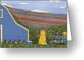 Country Sculpture Greeting Cards - Dream Cycle Greeting Card by Anne Klar