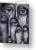 Monotone Painting Greeting Cards - Dreamers Greeting Card by Michael Lang
