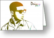 Nicki Minaj Greeting Cards - Drizzy  Greeting Card by The DigArtisT