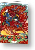 Thanka Greeting Cards - Dudjoms Dorje Drollo Greeting Card by Sergey Noskov