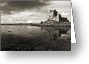 Kinvarra Greeting Cards - Dunguaire Castle Kinvara co Galway Ireland Greeting Card by Pierre Leclerc