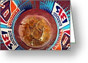 Donuts Greeting Cards - Dunkin Ice Coffee 19 Greeting Card by Sarah Loft