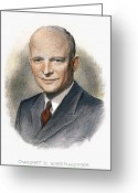 President Eisenhower Greeting Cards - Dwight D. Eisenhower Greeting Card by Granger