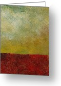 Grungy Greeting Cards - Earth Study One Greeting Card by Michelle Calkins