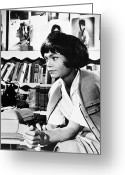 Typewriter Greeting Cards - Eartha Mae Kitt (1927-2008) Greeting Card by Granger